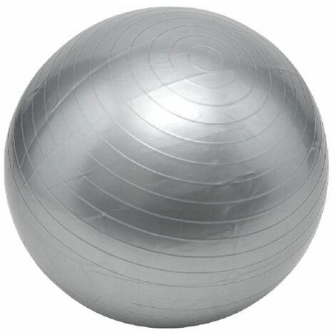 Ballon de gymnastique / fitness / grossesse anti-éclatement D. 65 cm en PVC (Gris) - D-Work