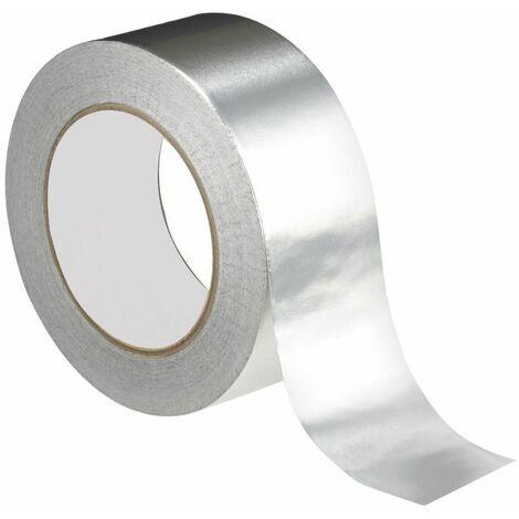 Ruban adhésif aluminium 50 mm (ép. 40μ) x L. 50 mètres Spécial joint isolant mince - D-Work