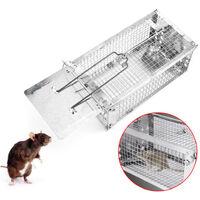 Piège à souris, piège mulots, nasse à rats 27 x 14 x 11,5 cm cage en acier galvanisé - Animood