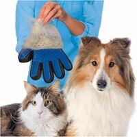 Paire de gants de toilettage pour chiens, et chats en silicone/nylon et à usage intensif - Animood