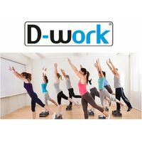 Stepper fitness / aérobic 78 x 30 cm à 3 niveaux réglables Ht. 10, 15 ou 20 cm spécial cardio training - D-Work