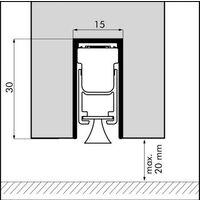 Plinthe ellen matic brush - Longueur : 73 - FRANCE CALFEUTRAGE