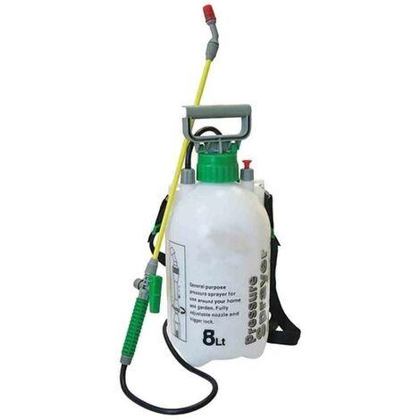 8L GARDEN PRESSURE SPRAYER KNAPSACK WEEDKILLER CHEMICAL FENCE WATER SPRAY BOTTLE (1, 8L PRESSURE SPRAYER)