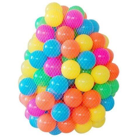 400PC KIDS PLASTIC SOFT PLAY BALLS CHILDREN BALL PITS PEN POOL BATH PIT MULTI 5.5CM