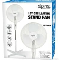 """NEW 16"""" OSCILLATING PEDESTAL STAND FAN COOLING AIR 3 SPEED HOME OFFICE SILENT"""