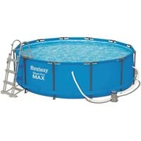 BESTWAY ROUND FRAME SWIMMING POOL WITH FILTER PUMP, STEEL PRO MAX, 39.5 INCH DEEP, 12 FT