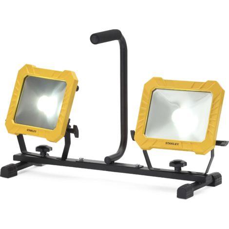 STANLEY Projecteur de chantier Led - 2x33 W - 4000 lumens