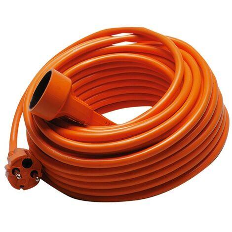 TEC HIT 6225 - Prolongateur Jardin - 16 Amperes/230 Volts - 3680 Watts - 25 mètres - Avec Sécurité Enfant - Orange