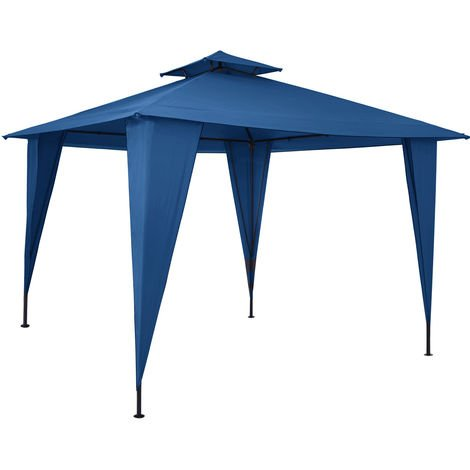 Pavilion 3.5x3.5m Garden Tent Waterproof Party Tent With Roof Hood UV Protection 50+ Garden Terrace Different Colours Blue