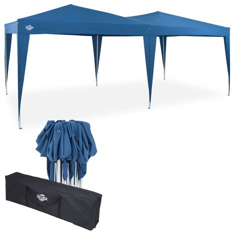 Gazebo 3x6m Capri Pop-Up Party Tent Outdoor Garden Patio Festival Canopy Marquee Blue