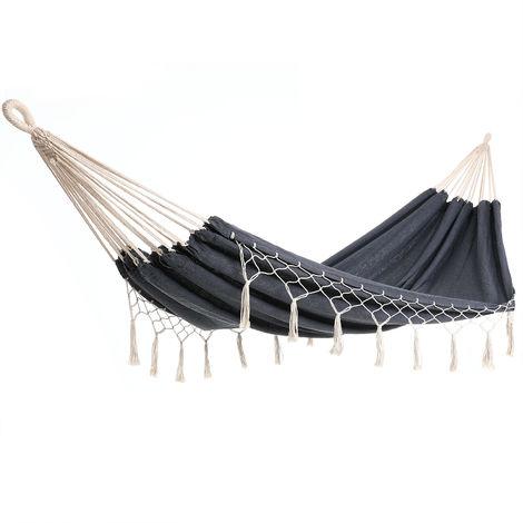 Hammock Camping Garden 300kg DETEX Hanging Swing Travel Day Bed Hiking Canvas Grey