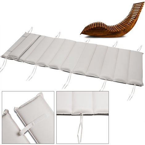 Lounger Pad Water-Repellent Pillow Pad Lounger Cushion Sauna Bed Garden Bed Cream