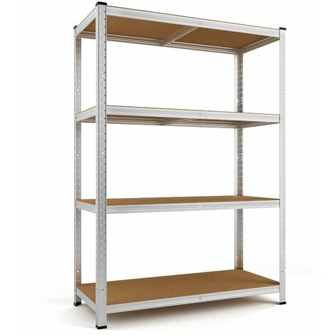 Heavy Duty Shelving Unit Storage Racking Shelf Shelves Boltless Garage Tier NEW 4 Tier - 160x90x40cm