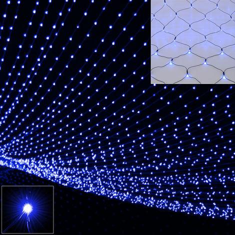 Deuba LED Rain Light chain Chain of lights Light curtain Illumination Outdoor Indoor Lichternetz 160 LED blau (de)
