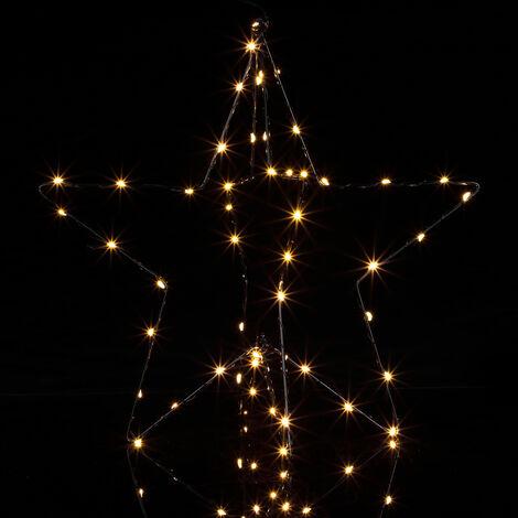 Christmas LED Star Silver Light Stern (de)