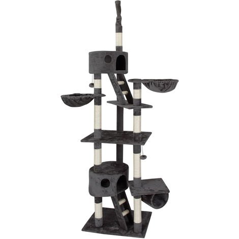 Cat Scratching Tree Ceiling High Activity Centre Post Sisal Kitten Scratcher New Dark Grey