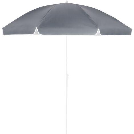 Kingsleeve Beach Sun Parasol Outdoor Garden 180 + 200cm Umbrella Tilt Sun Shade Anthrazit - 180cm (de)