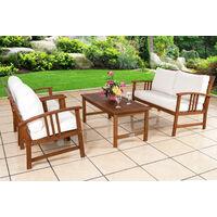 Wooden Garden Furniture Patio Bistro Set FSC Certified 4 Seater Acacia Hardwood