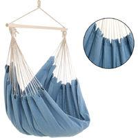 Hammock Outdoor Garden Camping 150kg Hanging Swing Travel Portable Bed Sleeping Light Blue
