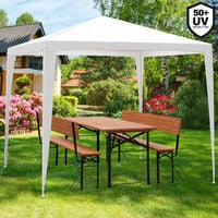 Deuba Pavilion 3x3m Water-Repellent Roof Covering Marquee UV Protection 50+ Connector System Festival Garden Christmas Market