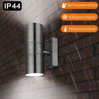 Deuba Wall Light Up Down Motion Sensor Daylight Detection Dusk to Dawn LED Ready Lilac - Classic