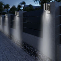 Deuba Wall Light Up Down Motion Sensor Daylight Detection Dusk to Dawn LED Ready Linnea - Day/Night Sensor