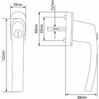 10x or 2x Lockable Window Aluminium Handle Security Child Protection Universal 2x White