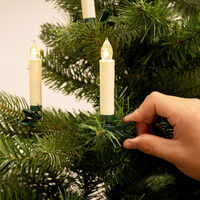 Christmas Tree LED Candles Lights Clip On Fairy String Warm White Decor Battery 20Pcs Warm White