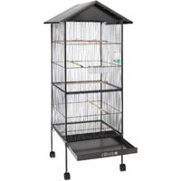 Large Metal Aviary Bird Cage XL 2 Doors Suitable for Budgies, Parrots etc. Aviary with roof