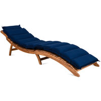 Detex Lounger Pad Water-Repellent Including Pillow Pad Lounger Cushion Swing Lounger Garden Pillows Blue