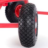 Pull Along Trolley Hand Wagon Cart Garden Festival Transport XL Wheelbarrow Red
