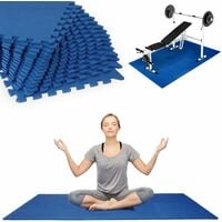 16 pcs Set Gym Mat Interlocking EVA 1cm Foam Floor Exercise Yoga Crossfit Garage