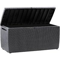 Keter Garden Storage Box 305 Litre Sit on Outdoor Bench Plastic Wheels Anthracite