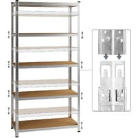 Heavy Duty Shelving Unit Storage Racking Shelf Shelves Boltless Garage Tier NEW 2x 5 Tier - 180x90x40cm