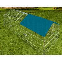 Metal Rabbit Run Cage Enclosure Playpen Hutch Small Animal Guinea Pig Chicken Green