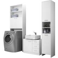 DEUBA® Bathroom Furniture Set Tall Cupboard Cabinet Base Floor Unit White New