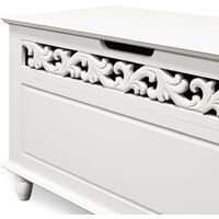 """White Wooden Storage Chest """"Jersey"""" with Folding Lid Chest Jersey"""