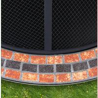 Deuba Fire Pit Mosaic Outdoor Garden Patio 76 cm