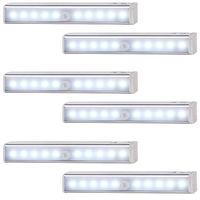 Under Cabinet Lighting Closet LED Light 20 LEDs Wireless Magnetic Motion Sensor Night Lights Wardrobe Counter (6)