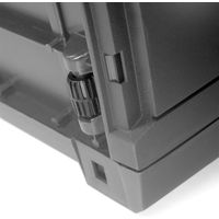 Storage Chest With Hinged Lid Handles Wheels Rattan Look Anthracite Garden Box Cushion Box Rattanoptik - grau (de)