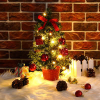 Christmas Tree Small X-mas Mini Artificial Decoration Tabletop Desk Office Decor Mini Tree