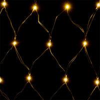 Deuba LED Rain Light Chain Curtain Illumination Outdoor Indoor Lichternetz 100 LED weiß (de)