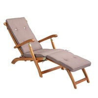 Sun Lounger Cushion Pad Deck Chair Breathable Grey & Cream Mixed Cream mottled