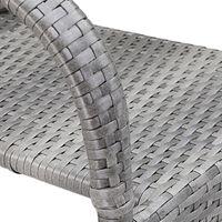 Casaria Poly Rattan 4 Pieces Set Chairs Comfortable Stackable Garden Patio Balcony Furniture Grey