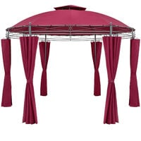 Pavilion Garden Gazebo Party Tent Marquee Toscana Ø350cm Metal Water-repellent Patio Red