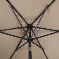 Garden Parasol Umbrella Large 3m UV-Protection 40+ Sun Shade Patio Canopy taupe (de)
