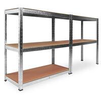 Industrial Steel Shelving Unit 5 Tier 1800x900x400mm Garage 875killogramm Heavy Duty Metal Racking Storage Shelves - Size Choice 1x / 2x / 5x / 10x