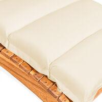 Detex Lounger Pad Water-Repellent Including Pillow Pad Lounger Cushion Swing Lounger Garden Pillows Cream