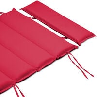 Lounger Pad Water-Repellent Pillow Pad Lounger Cushion Sauna Bed Garden Bed Dark-red