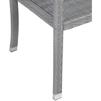 Poly Rattan Garden Bench 2 Seater Grey